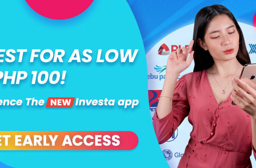 Investa launches first investment platform; Filipinos can start investing for as low as P100